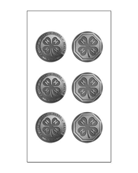 4-H Embellishments - 4-H Metal Shaped Brad