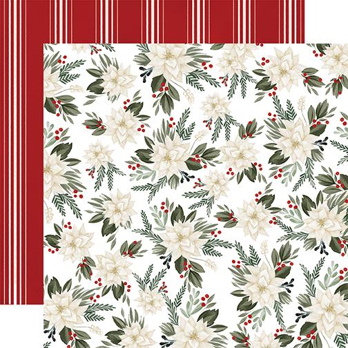 Farmhouse Christmas: Poinsettia Floral DS Paper