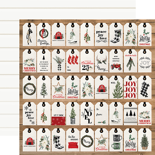 Farmhouse Christmas: Gift Tags DS Paper