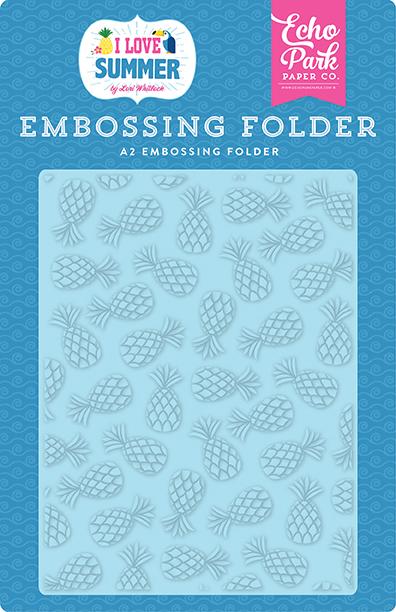 Embossing Folder- Summer Pineapples