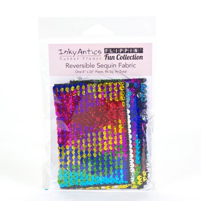 Reversible Sequin Fabric: Rainbow Holographic to Silver Holographic