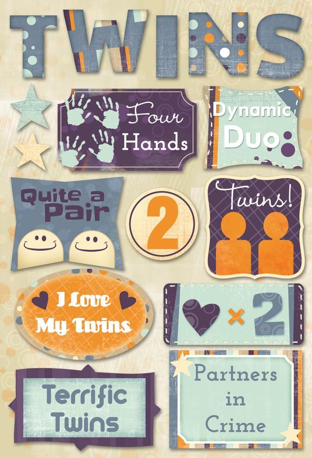 Terrific Twins Cardstock Stickers
