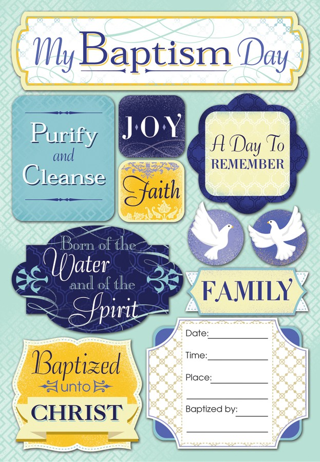 My Baptism Day Stickers
