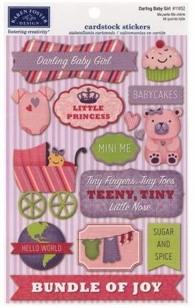 KF Darling Baby Girl Stickers