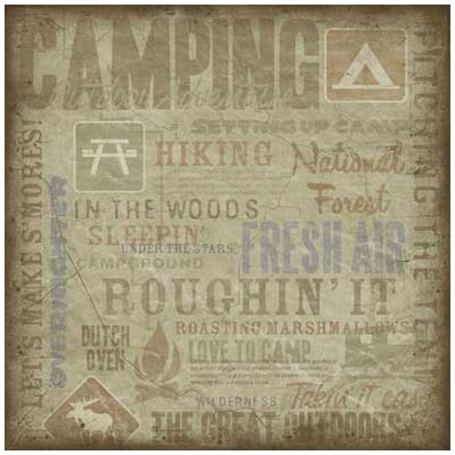 KF Camping Collage Paper