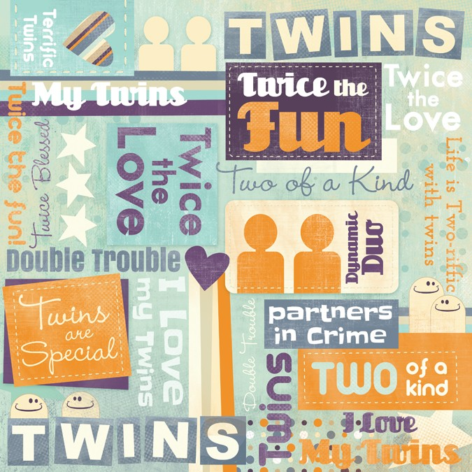 Twins are Special Collage Paper
