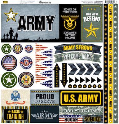 Army 12x12 Elements Sticker