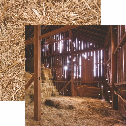 At the Farm: In the Barn Scrapbook Paper