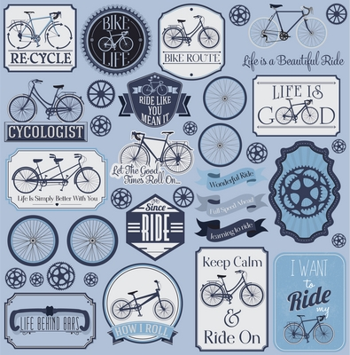 Bike Life 12x12 Sticker