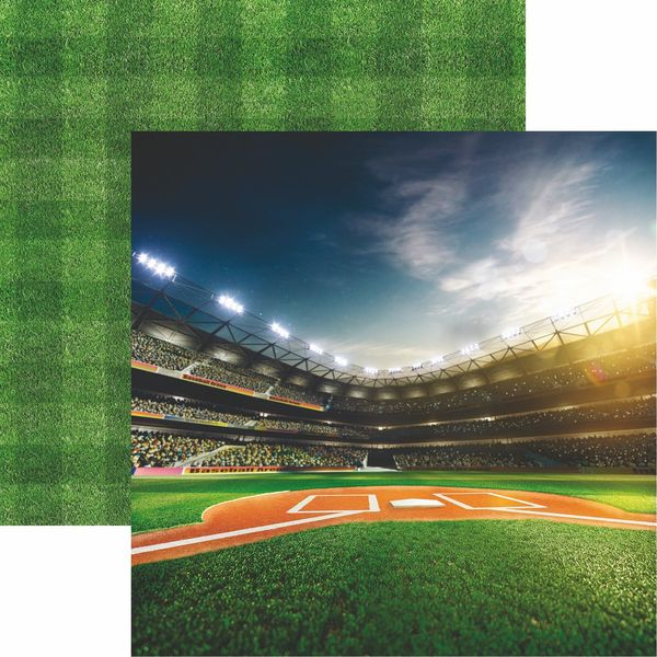 Baseball 2 Collection Bright Lights Scrapbook Paper