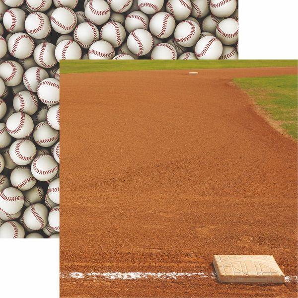 Baseball 2 Collection Infield Scrapbook Paper
