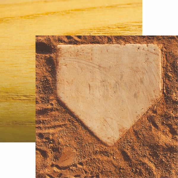 Baseball 2 Collection Homeplate Scrapbook Paper