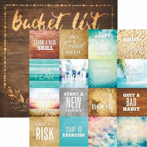 Bucket List: Seize the Day Scrapbook Paper