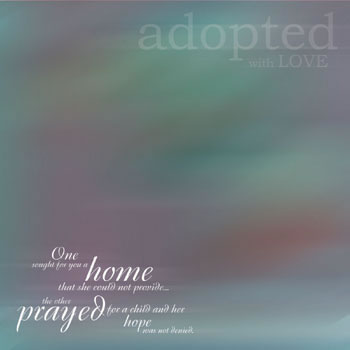 Adopted With Love Paper