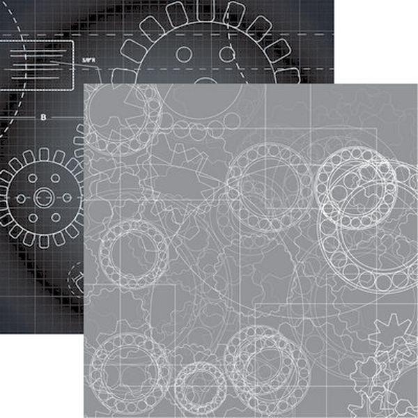 Gear Head: Third Gear Scrapbook Paper