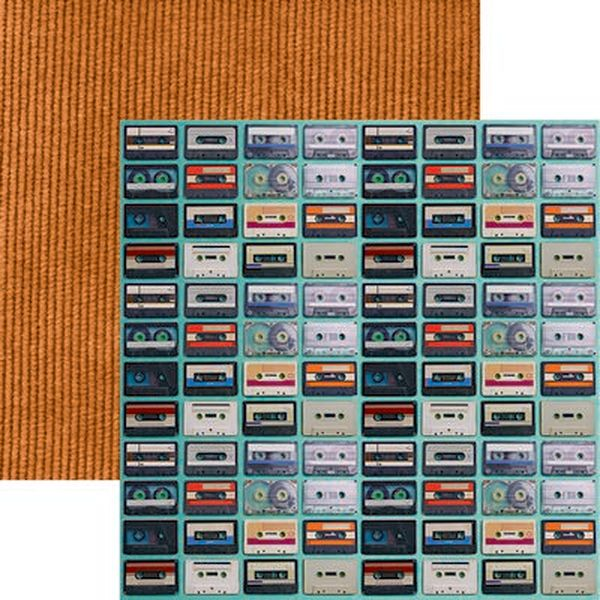 Good Vibes: Cassette Tapes Scrapbook Paper