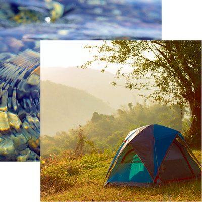 Happy Camper: Sunrise Scrapbook Paper