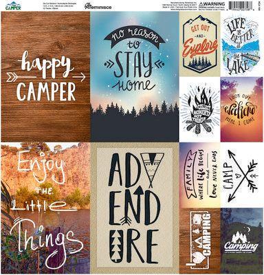 Happy Camper 12x12 Poster Sticker