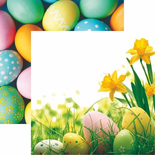 Hello Spring: Happy Easter Scrapbook Paper