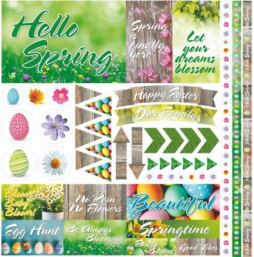 Hello Spring 12x12 Elements Sticker
