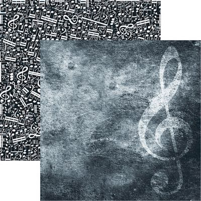 High School Musical: Treble Clef Scrapbook Paper