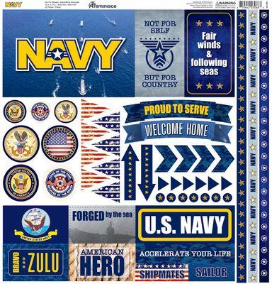 Navy 12x12 Elements Sticker