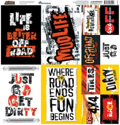 Off-Road 12x12 Poster Sticker