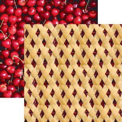 Pie Time: Cherry Lattice Paper