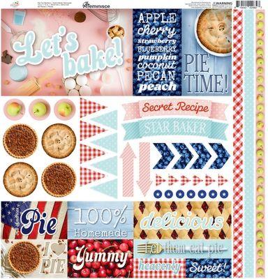 Pie Time 12x 12 Elements Sticker
