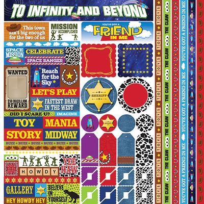 Toy Box 12x12 Multi Sticker