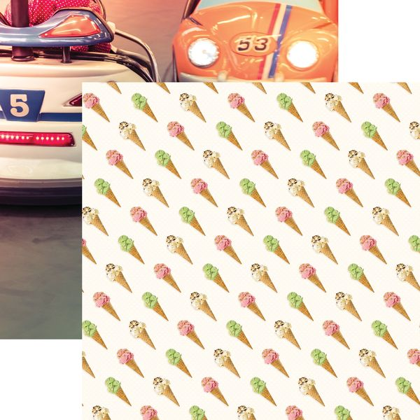 Weekend Adventure: Cones & Cars DS Paper