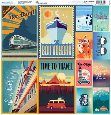 Wanderlust 12x12 Poster Sticker