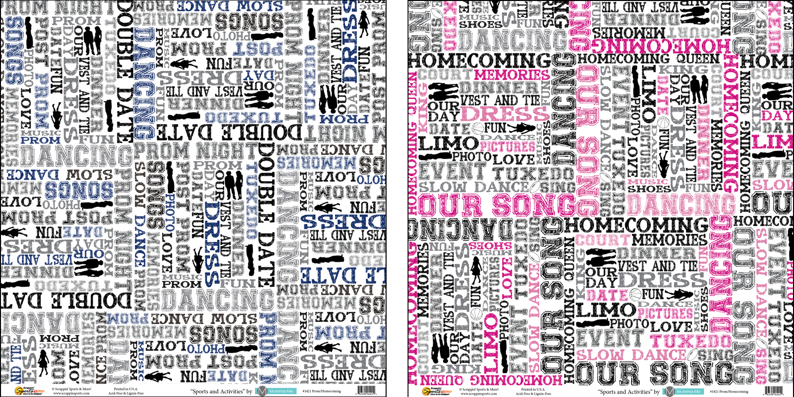 Sports & Activities - Prom/Homecoming Scrapbooking Paper