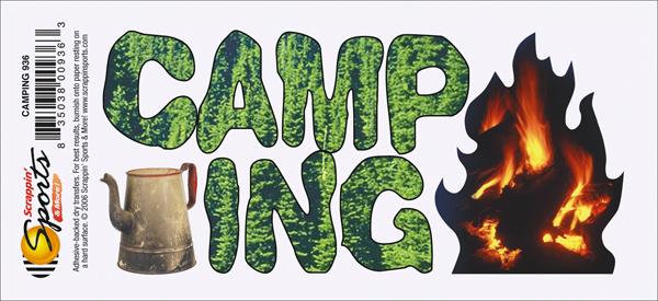 Camping Rub-On - Camping