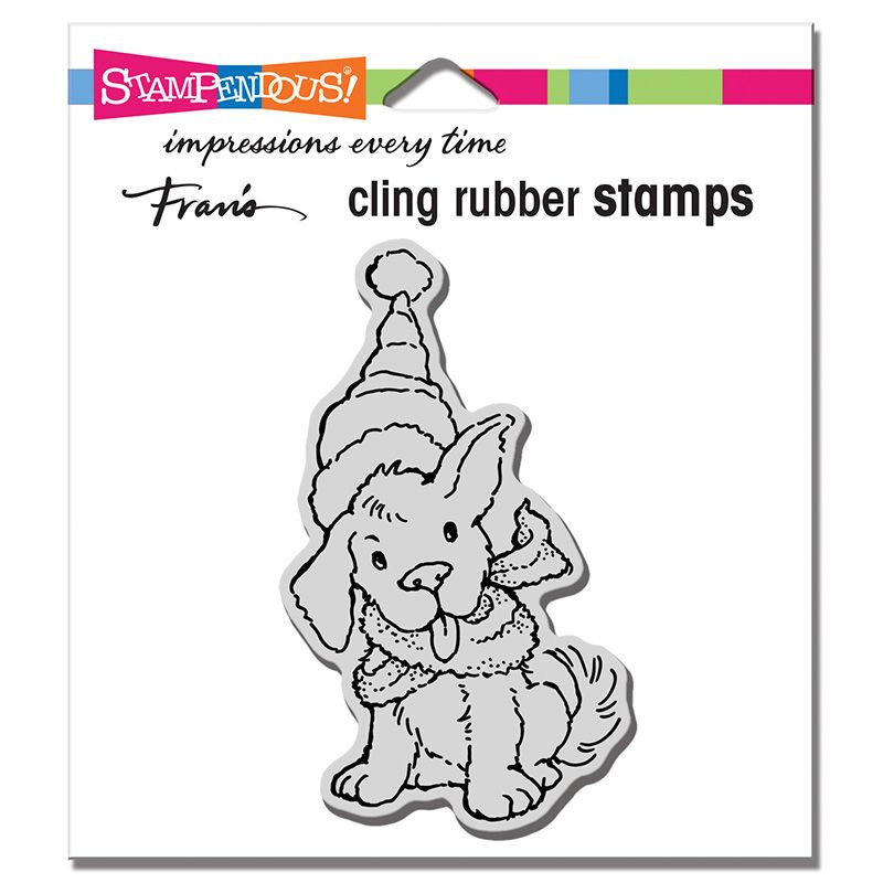 Cling Scarf Puppy Rubber Stamp