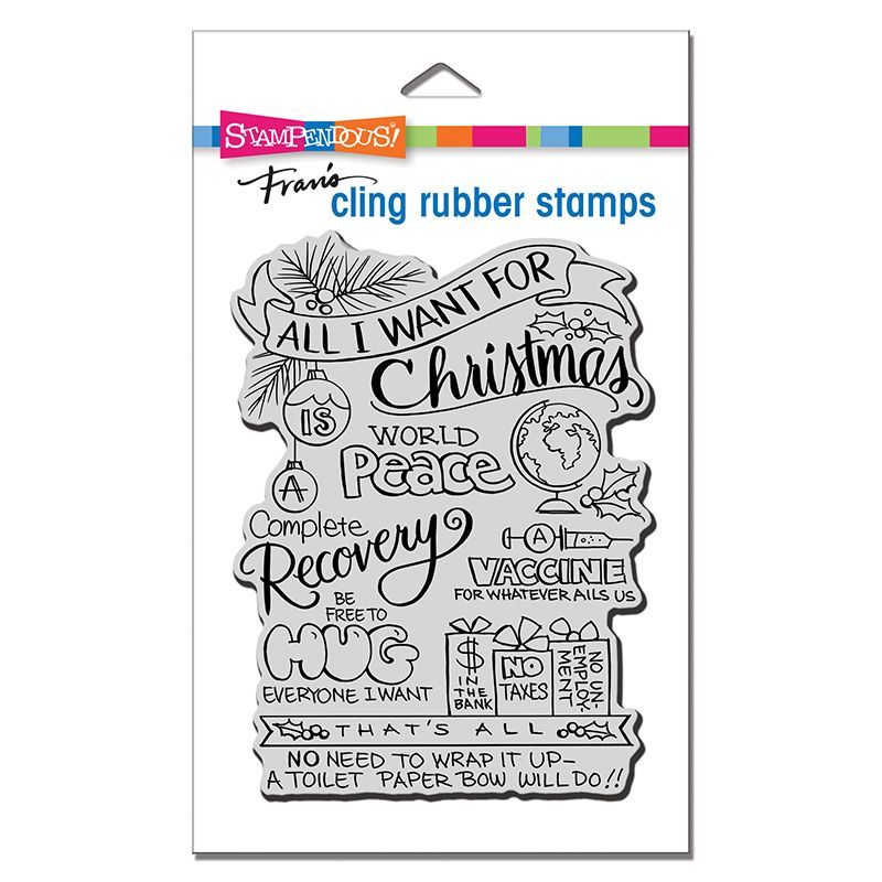 Cling All For Christmas Rubber Stamp