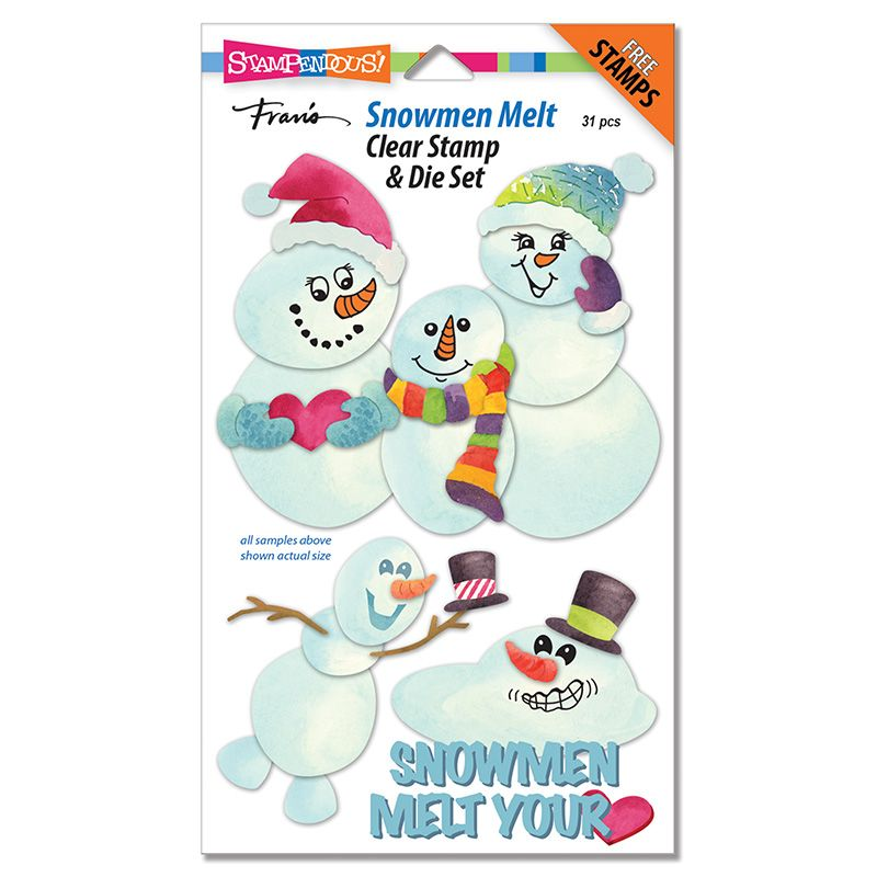 Snowmen Melt Clear Stamps and Die Set