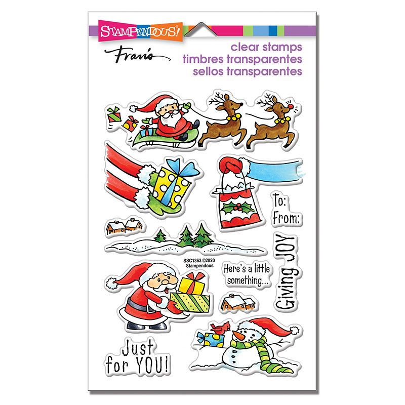 Christmas Gift Perfectly Clear Stamps