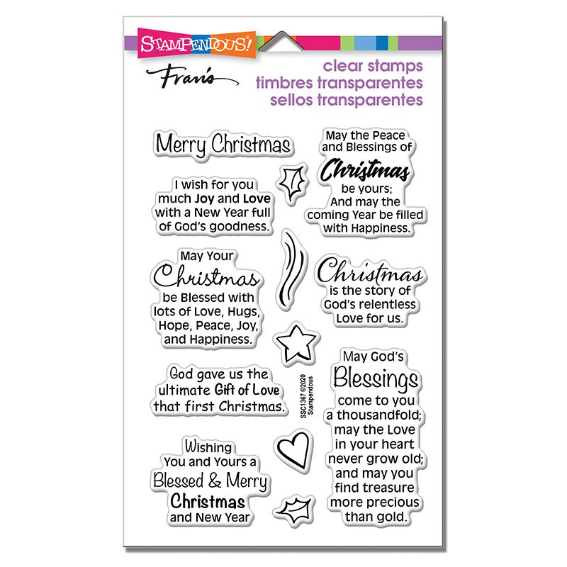Blessed Christmas Perfectly Clear Stamps