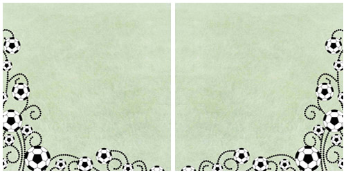 Soccer Ball Scrapbook Paper