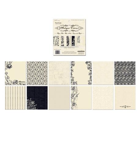 Creative Imaginations 6x6 Paper Pad - Antique Cream