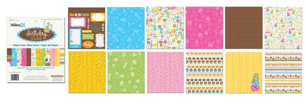 Creative Imaginations 6x6 Paper Pad - Birthday Bliss