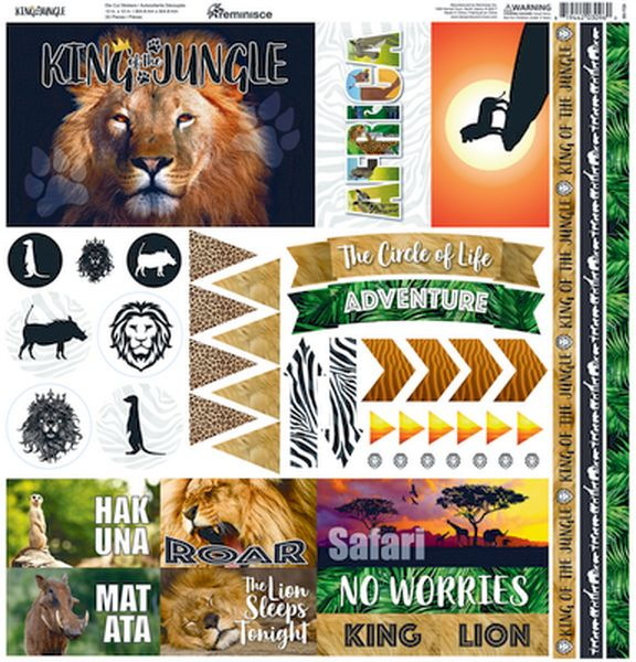 King of the Jungle?12x12 Elements Sticker